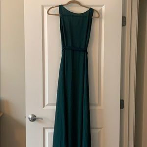 Floor length hunter green lulus dress